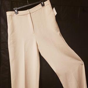 Cream Wide Leg Trousers
